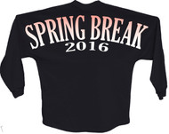 Spring break 2016 orange pom print J america women Long sleeve shirt