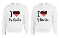 love my Girlfriend, Gays, Lesbians, couples Sweatshirts