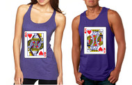 King and Queen Cards couples Tank Tops valentine day Gift