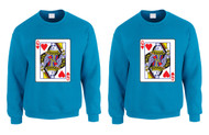 Queen and Queen Lesbian Cards couples Pride Sweatshirts