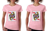 Queen and Queen Lesbian Cards couples Pride Tshirts