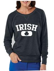 Irish Shamrock Ladies pullover Long Sleeve