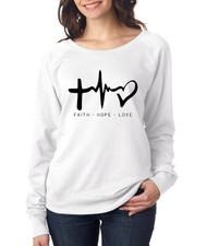 FAITH HOPE LOVE Ladies pullover Long Sleeve