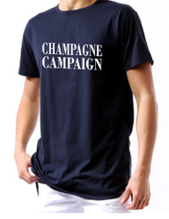 Champagne campaign Men Long back zip tshirt