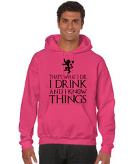 Tyrion Lannister That's What I Do I Drink And Know Things  Men Hooded Sweatshirt