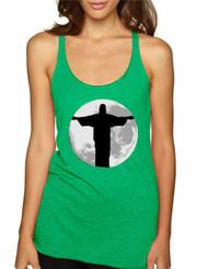Women's Tank Top Moon Jesus Cool Love Jesus Top
