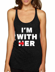 Women's Tank Top I'm With Her Hillary Clinton Top USA