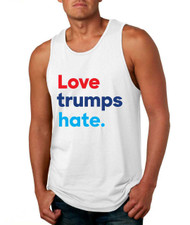 Men's Tank Top Love Trumps Hate Elections 2016 USA Top