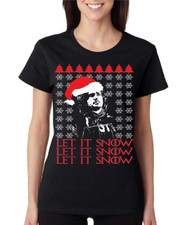 Women's T Shirt Let It Snow Ugly Christmas Sweater Jon Snow