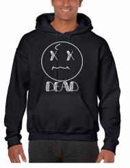 Men's Hoodie Sweatshirt Dead Face Cool Funny Humor Top