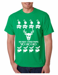 Men's T Shirt Yo Ho Ho Cool Ugly Christmas Sweater Holiday Top Gift
