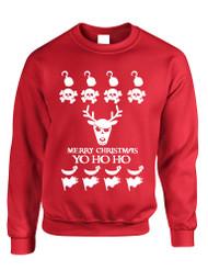 Adult Crewneck Yo Ho Ho Cool Ugly Christmas Sweater Holiday Gift