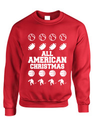 Adult Crewneck All American Christmas Love Sport Holiday Top