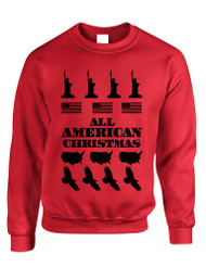 Adult Crewneck American Christmas Ugly Sweater Love USA Top