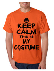 Men's T Shirt Keep Calm This Is My Costume Cool Halloween T Shirt