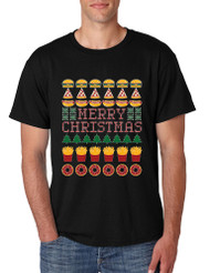 Men's T Shirt Junk Food Merry Christmas Ugly sweater Food Lovers