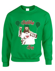 Adult Crewneck Birthday Boy Jesus Ugly Christmas Sweater