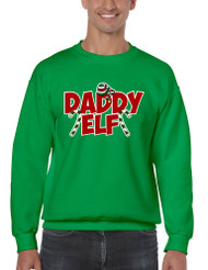 Men's Crewneck Daddy Elf Ugly Christmas Holiday Gift Top
