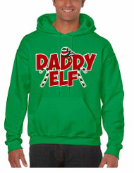 Men's Hoodie Daddy Elf Ugly Christmas Holiday Gift Top Idea
