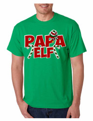 Men's T Shirt Papa Elf Ugly Christmas Cool Holiday Gift Idea