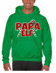 Men's Hoodie Papa Elf Ugly Christmas Holiday Gift Top Idea