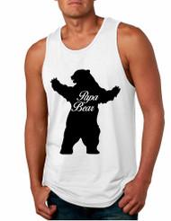 Men's Tank Top Papa Bear Family Shirt For Dad Xmas Cute Top