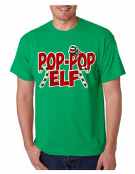 Men's T Shirt Pop Pop Elf Ugly Xmas Holiday Family Cute Gift