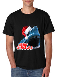 Men's T Shirt Santa Jaws Merry Christmas Ugly Fun Xmas Tee