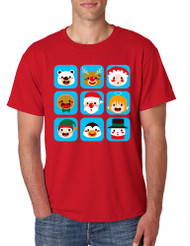 Men's T Shirt Christmas Icons Cool Ugly Xmas Symbols Shirt