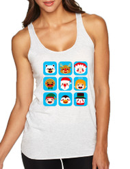 Women's Tank Top Christmas Icons Ugly Xmas Symbols Top