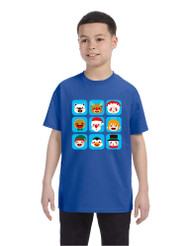 Kids T Shirt Christmas Icons Ugly Holiday Symbols T-Shirt