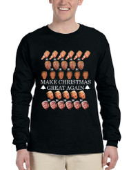 Men's Long Sleeve Make Christmas Great Again Trump Xmas Top