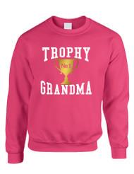 Adult Sweatshirt Trophy Grandma Cool Xmas Love Family Gift Top