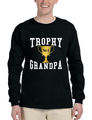 Men's Long Sleeve Trophy Grandpa Cool Xmas Love Family Gift Top