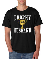 Men's T Shirt Trophy Husband Cool Xmas Love Gift Family Tee Shirt