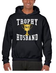 Men's Hoodie Trophy Husband Cool Xmas Gift Love Family Top