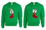 Couple Sweatshirt Naughty And Nice Xmas Loved Gift Ugly Sweater