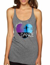 Women's Tank Top Dance Art Purple Print Love Cute Top Nice Gift