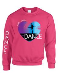 Adult Sweatshirt Dance Art Purple Print Love Cute Top Nice Gift