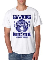 Men's T Shirt Hawkins Middle School 1983