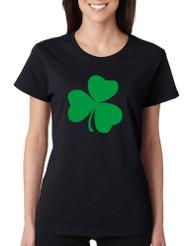 Women's T Shirt Green Shamrock Graphic St Patrick's Day Tee
