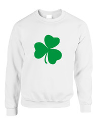 Adult Sweatshirt Green Shamrock Graphic St Patrick's Day Top
