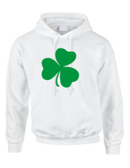 Adult Hoodie Green Shamrock Graphic St Patrick's Day Top