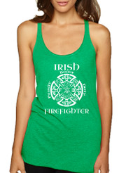 Women's Tank Top Irish Firefighter St Patrick's Top Irish Party