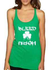 Women's Tank Top Bleed Irish St Patrick's Day Party Irish