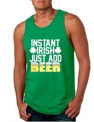 Men's Tank Top Instant Irish Add Beer St Patrick's Day Top