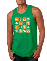 Men's Tank Top Irish Icons St Patrick's Day Symbols Top