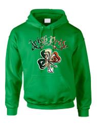 Adult Hoodie Irish Pride Shamrock St Patrick's Party Top