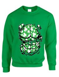 Adult Sweatshirt Irish Body Shamrock St Patrick's Day Top