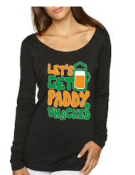 Women's Shirt Lets Get Paddy Whacked St Patrick's Shirt